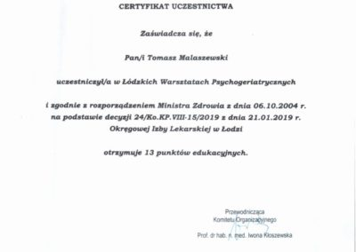 Psychogeriatria 2019